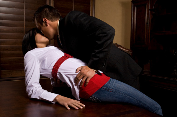 Couple sex in office
